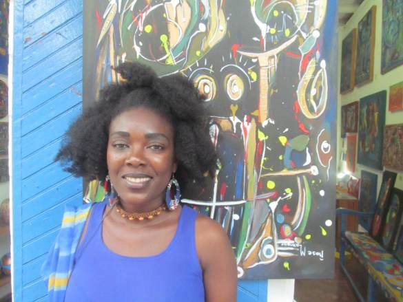 Rose-Marie Lamour, artiste peintre et mannequin