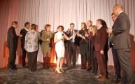 Un toast à la francophonie le 20 mars avec, au centre, Lise Béland, du Collège Boréal, présidente du comité organisateur de la Semaine.