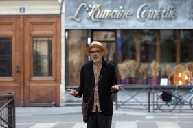 Elia Suleiman, réalisateur de la coproduction canadienne It Must Be Heaven, présentée en compétition. (Photo: Carole Bethuel)