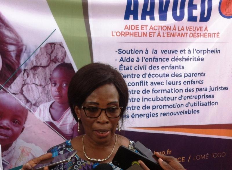 AAVOED, association, Aide et action à la veuve, à l'orphelin et à l'enfant déshérité, siège, Lomé, Molga Kadjaka Abougnima