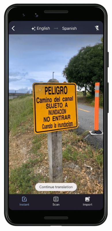 Google améliore sa traduction instantanée via l'appareil photo