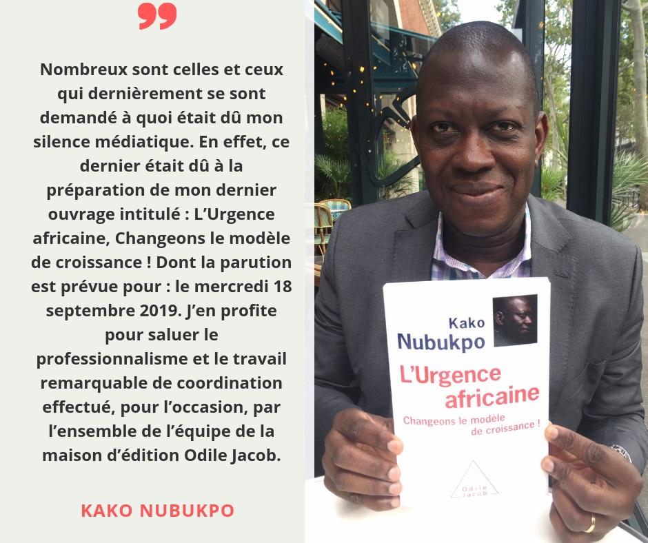 Togo : Le Prof Kako Nubukpo annonce son retour sur la scène