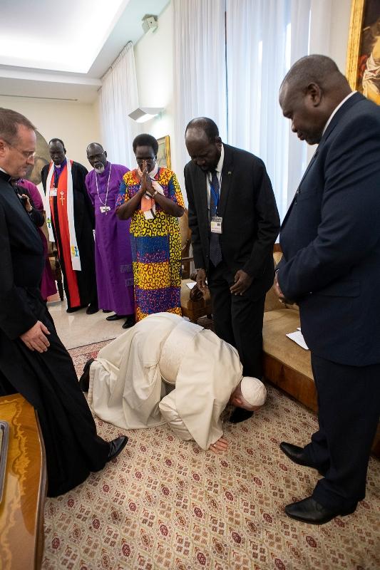 Pape, Soudan, Riek Machar, Salva Kiir, François