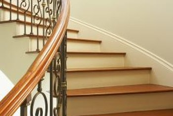 How To Sand And Stain Stair Railings Home Guides Sf Gate | Cost To Restain Stair Railing | Spindles | Refinishing Hardwood Stairs | Baluster | Sanding | Paint