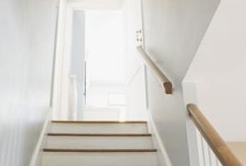 How To Paint White Stair Risers Home Guides Sf Gate | Handrail For Narrow Staircase | Exterior | Self Standing Narrow | Free Standing | Victorian | Small Staircase