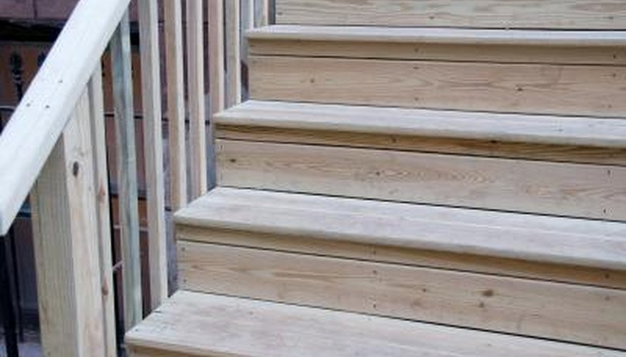 How To Repair Outdoor Wooden Steps Home Guides Sf Gate | Repairing Outdoor Wooden Steps | Staircase | Patio | Concrete Slab | Front Porch | Stringer