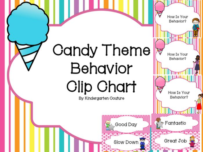 Candy theme behavior clip chart by kindergartencouture teaching resources tes also rh