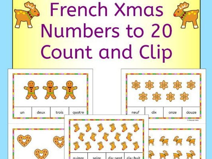 french christmas numbers nombres
