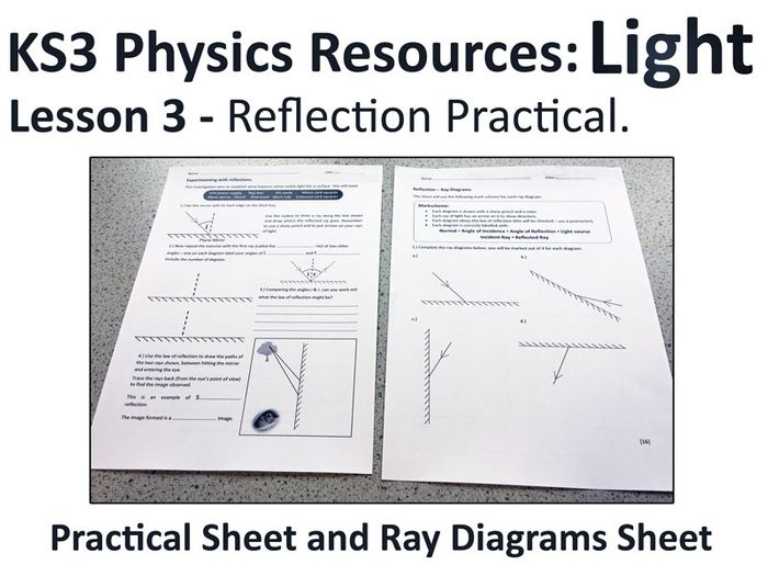 reflection ray diagram ks3 wiring for house sockets physics lesson resources light practical 3 by cadarnloz teaching tes