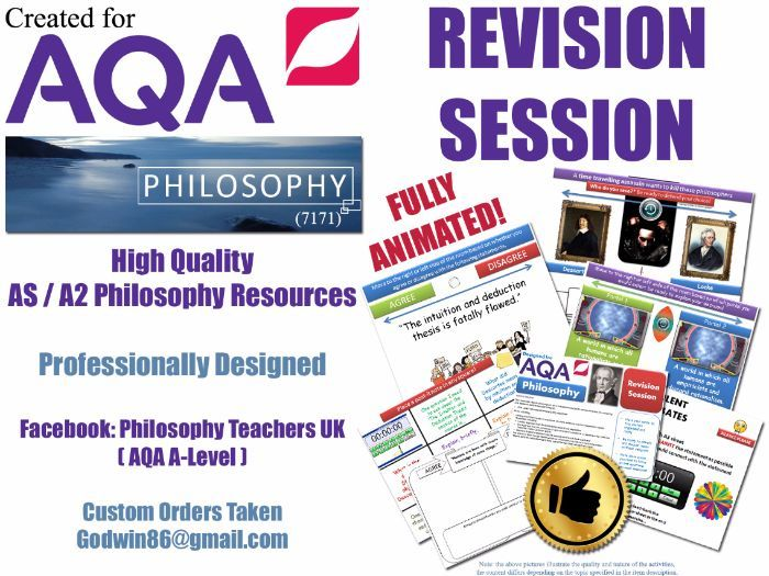 AQA Philosophy AS Revision Sessions (x12) Epistemology ...