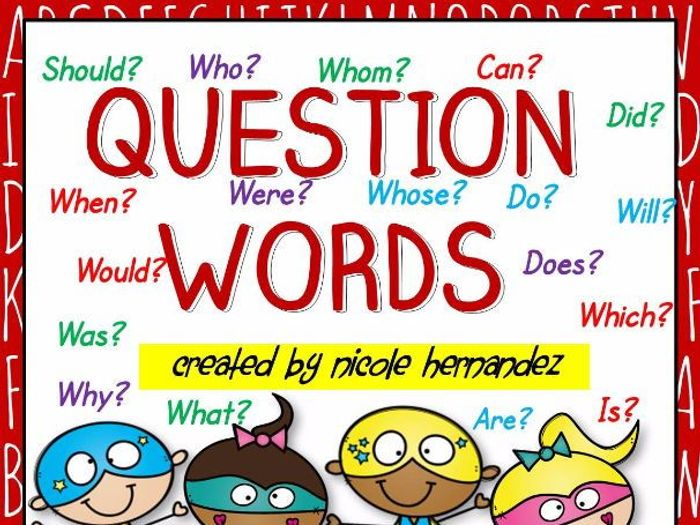 ws and  question words anchor chart who what when where why also rh tes