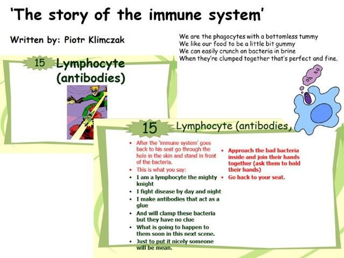 The story of immune system  classroom role play for ks and ks also rh tes