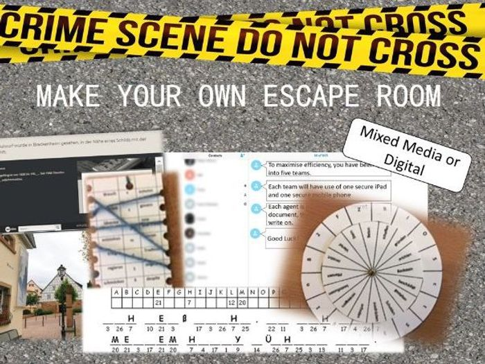 Make Your Own Escape Room Revision End Of Term Or Just