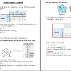 What Is A Sample Space Diagram In Maths Mtd Ignition Switch Wiring Worksheet Wih Solutions Edexcel Ks3 Ks4 By Sarita Rindi Teaching Resources Tes