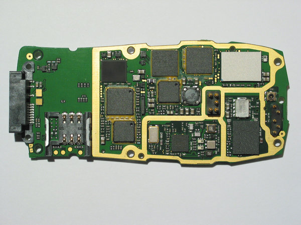 Circuit Board Of A Cell Phone