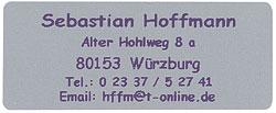 Adress Etiketten in silber, Schrift violett, selbstklebend 300 Stück