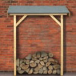 "Männer Geschenk: Basis Schleppdach in naturbelassenem Holz für Gartenhäuser Karibu bei ""Westfalia"""