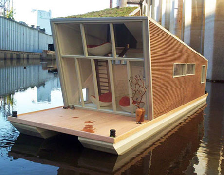 schwimmhaus houseboat by architects confused-direction
