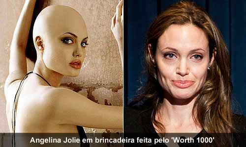 Angelina Jolie careca