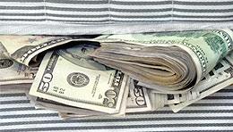 Money in the mattress