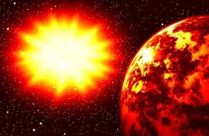 Representación simulada del WASP-18b, un planeta en rumbo de colisión con su estrella / Shutterstock