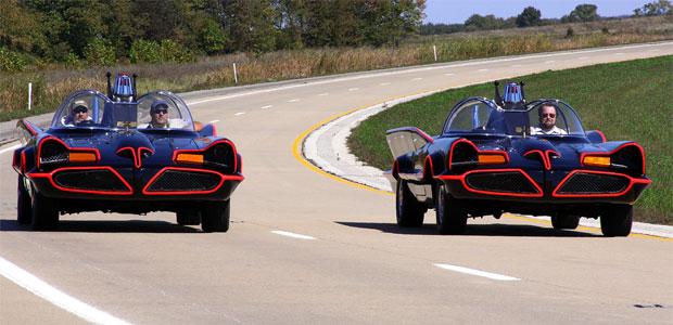 Batmobile replicas from Fiberglass Freaks
