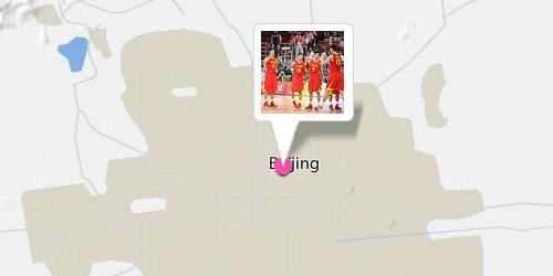 Kartenausschnitt Peking - Vorher