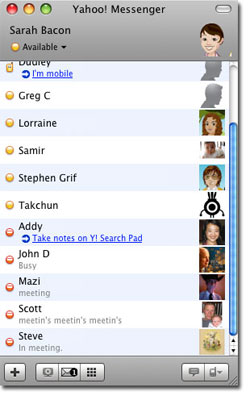macbeta4 contactlist - Yahoo messenger for Mac 3.0 Beta 4 now available