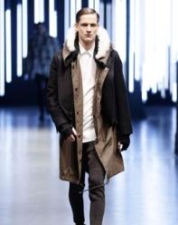 Sherpa lined coat at Neil Barrett