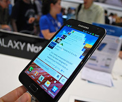 PSamsung Note with 'S Pen'