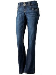 Rewind faded curvy flare jeans