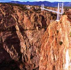 Royal Gorge Bridge over the Arkansas River in Colorado