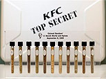 A commemorative representation of the 11 secret herbs and spices Colonel Harland Sanders made famous in his recipe for Kentucky Fried Chicken is shown Monday, Sept. 8, 2008 at KFC Headquarters in Louisville, Ky. (AP)
