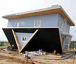 'Upside Down House' in Trassenheide on Usedom Island, northern Germany (AP Photo/Frank Hormann)