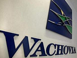A Wachovia Bank sign is seen inside an ATM booth  (AP)
