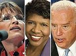 Sarah Palin (AFP)/Gwen Ifill (AP)/Joe Biden (AP)