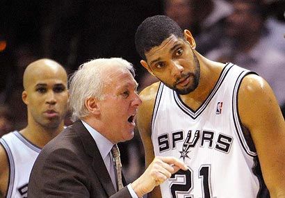 Gregg Popovich and Tim Duncan have won more than 70 percent of their games in their 13-plus seasons together.