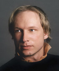FILE - In this undated file image obtained from the Twitter page of Anders Behring Breivik, 32, who was arrested in connection with the twin attacks on a youth camp and a government building in Oslo, Norway. Norwegian police say the man who has confessed to killing 69 people at an island youth camp has been brought back to the crime scene. Police say they took Anders Behring Breivik back to Utoya island on Saturday for a reconstruction of the July 22 terror attacks, when Breivik shot the victims dead on the island and killed eight further people in central Oslo with a bomb. (AP Photo/Twitter, Anders Behring Breivik, File)