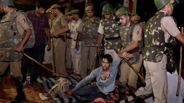 Police raid Ramlila Maidan