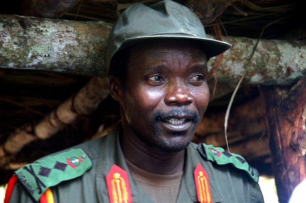 This July 31, 2006 file photo shows Joseph Kony, leader of the Lord's Resistance Army, during a meeting with a delegation of 160 officials and lawmakers from northern Uganda and representatives of