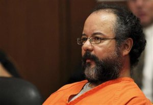 File photo of Ariel Castro, 53, sitting in the courtroom during his sentencing for kidnapping, rape and murder in Cleveland