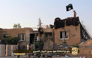 An image made available by Jihadist media outlet Welayat …