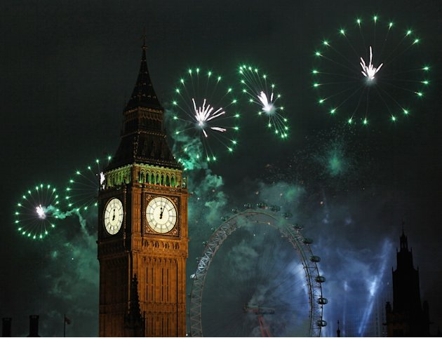 New Years Eve Is Celebrated In London With A Huge Firework Display