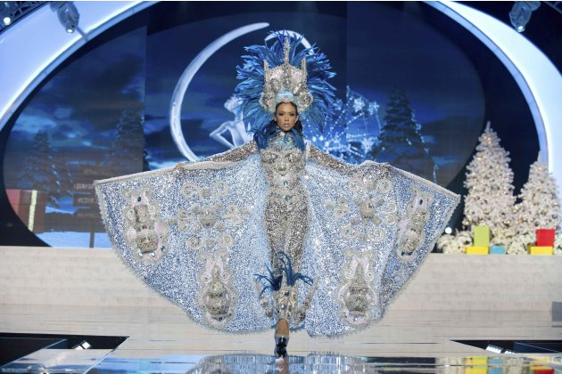 Miss Nicaragua Eslaquit Cano performs onstage at the 2012 Miss Universe National Costume Show at PH Live in Las Vegas