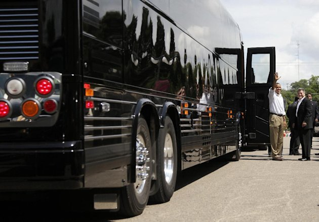 Click on photo to view the bus vs. 'Beast' slideshow. (AP/Carolyn Kaster)