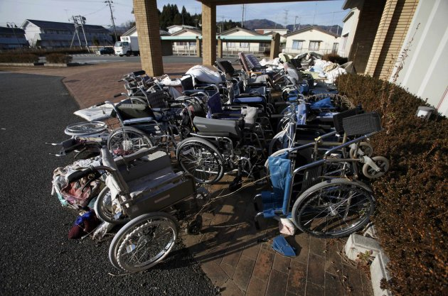 Abandoned wheelchairs are …