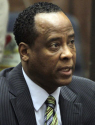 FILE - In this Jan. 25, 2011 file photo, Dr. Conrad Murray, singer Michael Jackson's personal physician, appears in Los Angeles Superior Court where Murray pleaded not guilty to a charge of involuntary manslaughter in the pop star's 2009 death.A Los Angeles judge heard arguments Thursday on whether to sequester jurors hearing an involuntary manslaughter case against the pop singer's personal physician. (AP Photo/Irfan Khan, File)