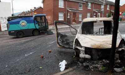 Police Attacked With Petrol Bombs In NI Riots