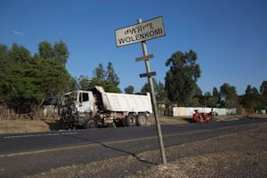 A burnt-out truck thought to have been set on fire …