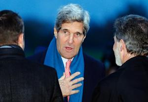 US Secretary of State John Kerry, pictured as he arrives…